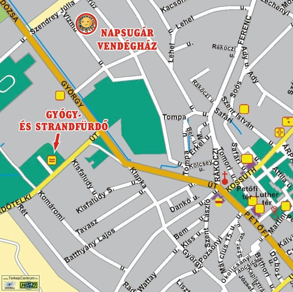 kiskőrös térkép Napsugár Vendégház Kiskőrös kiskőrös térkép
